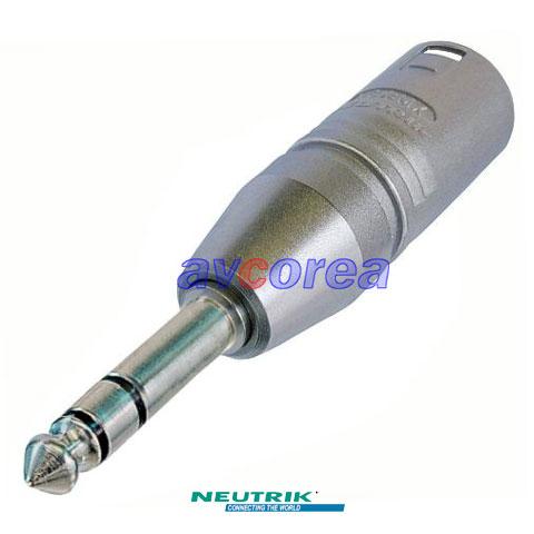 NA3MP XLR-55(6.3) 변환젠더 XLR Male - 55 STEREO PLUG Male