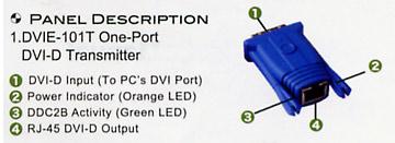 [avcorea][DVI-101T] DVI 리피터 - 송신부/ 최대 100m 까지 연결 가능