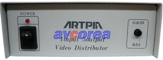 [avcorea]BK-5000V 영상 전용 분배기 (증폭기 내장) 1입력-5출력