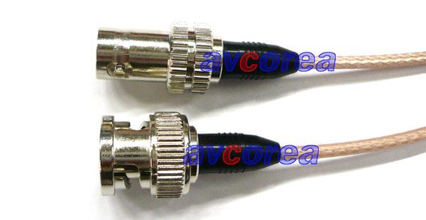 [avcorea]BNC 연장케이블(RG-179/BNCP-C-179) 임피던스는 75옴(Ω) 케이블입니다.