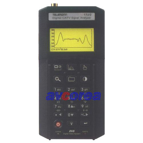 [AVCOREA]TELEMANN 1720 QAM+VSB분석기 디지털/아나로그 겸용 신호계측기
