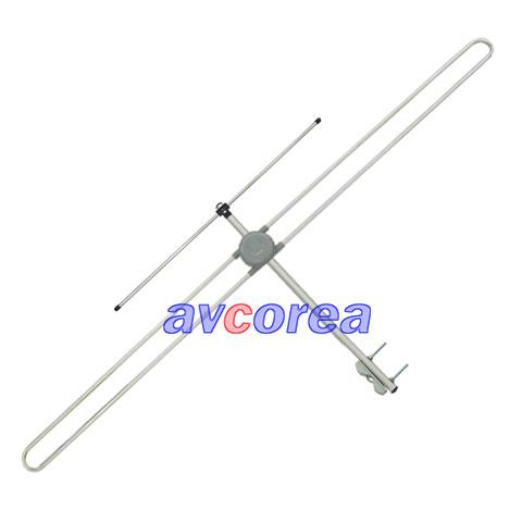 [AVCOREA]WS-FM01 고성능 FM안테나+실외형 거치 부라켓(롱타입)+주석케이블 기본 5M(알미늄 소재)