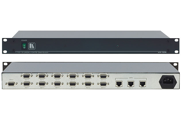 [AVCOREA]VP-12N 3개의 Twisted Pair 송신기 지원 1:12 컴퓨터 그래픽 비디오 분배 증폭기