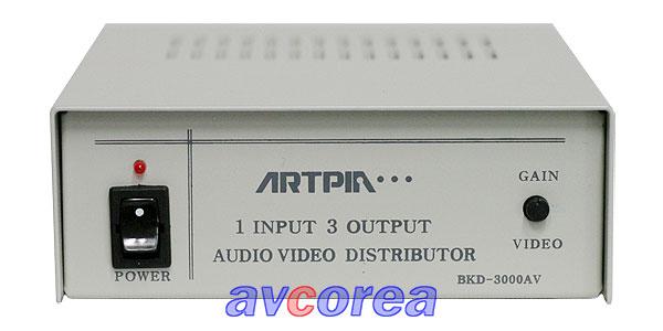 [AVCOREA]BK-3000AV 영상-음성(모노)증폭분배기[1입력3출력]