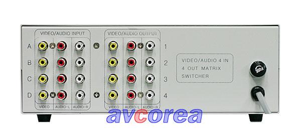 [AVCOREA]BK-404 A/V매트릭스 4 x 4 ROUTING 스위치 (스테레오)