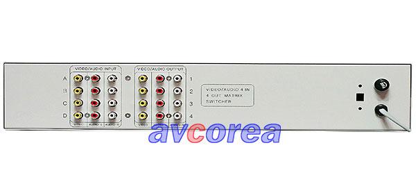 [AVCOREA]BK-404AV A/V매트릭스 4 x 4 ROUTING 스위치 (스테레오)(렉크형)