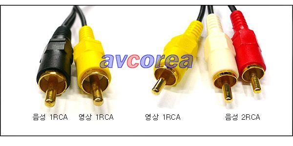 [AVCOREA]3RCA-2RCA 음성 스테레오 변환케이블