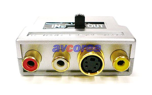 [AVCOREA]SCART 변환 커넥터(컴퍼지트, S-VHS)