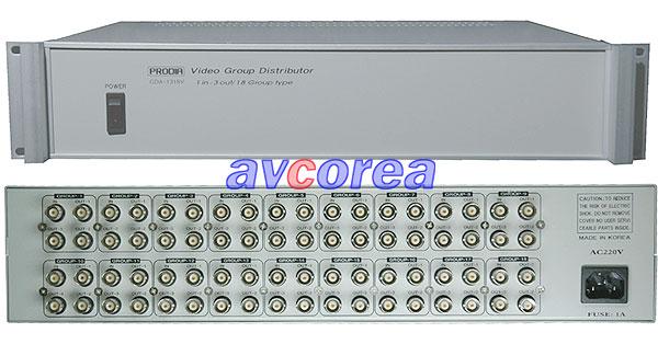 [AVCOREA][PRODIA] GDA1318V BNC 3분배기 X 18그룹분배기 2구랙타입
