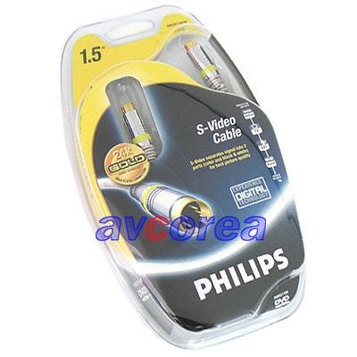 [AVCOREA]PHILIPS S-VHS 고급 케이블 1.5M[SWV3511NZ]