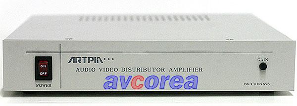 [AVCOREA]BKD-0107AVS A/V 1 X 7 분배기 (스테레오)